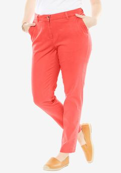 Slim Fit Chino, CORAL ROSE, hi-res