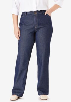 Wide Leg Cotton Jean, INDIGO