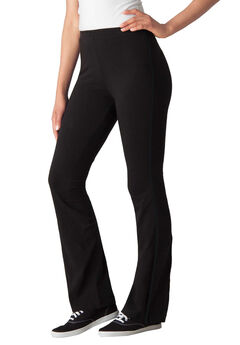 5d37098836222 Stretch Cotton Side-Stripe Bootcut Yoga Pant