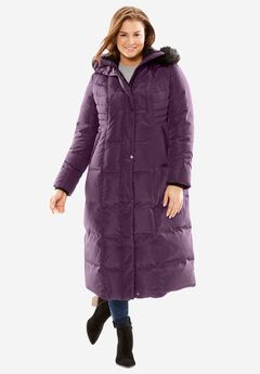 Hooded Faux Down Puffer Coat,
