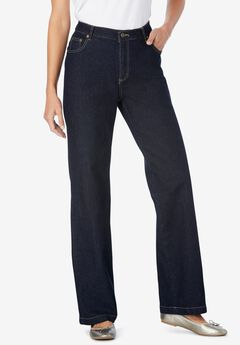 Wide Leg Stretch Jean, INDIGO