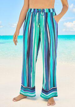 Wide-Leg Pant Swim Cover-Up Pant ,