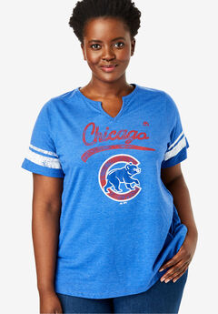 MLB Team Notch-Neck Tee, CUBS