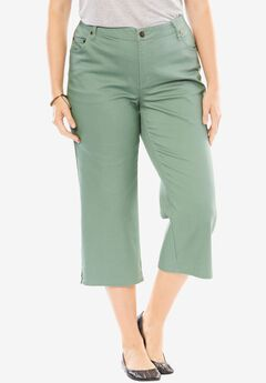 Capri Stretch Jean, DUSTY JADE