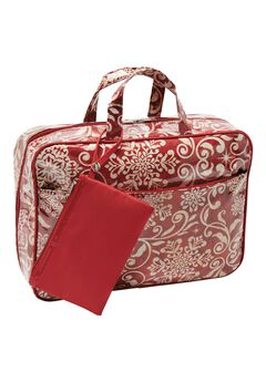 Chic 2-piece travel organizer & wristlet, HOT RED HOLIDAY WRAPPING, hi-res