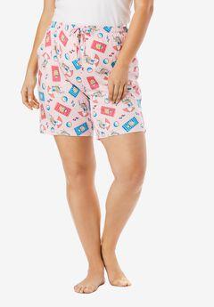 Print Pajama Shorts by Dreams & Co.®,