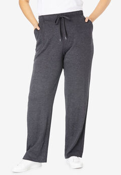 Sport Knit Straight Leg Pant, HEATHER CHARCOAL, hi-res