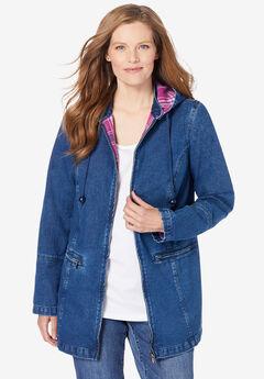 Flannel-Lined Denim Jacket,