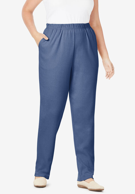 8ce3f2f4ae 7-Day Knit Straight Leg Pant| Plus Size Tall | Woman Within