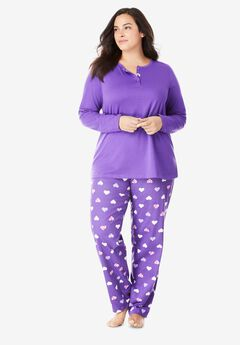 Henley PJ Set by Only Necessities®, PLUM BURST SNOOZE