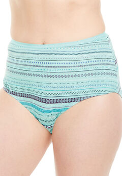 Full-Cut Brief by Comfort Choice®, AZURE STRIPE, hi-res