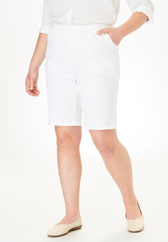 Fineline Denim Short, WHITE