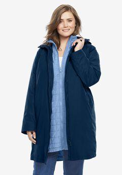 3-in-1 Hooded Taslon® Jacket, NAVY FRENCH BLUE