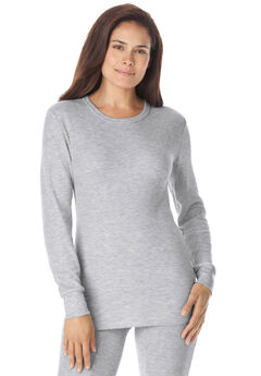 Thermal Long Sleeve Tee by Comfort Choice®, HEATHER GREY
