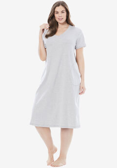 Short T-Shirt Lounger by Dreams & Co.®, HEATHER GREY