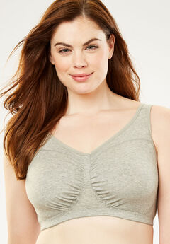 Wireless Leisure Bra by Comfort Choice®, HEATHER GREY, hi-res