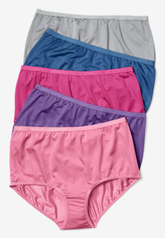 5-Pack Nylon Full-Cut Brief by Comfort Choice®, MIDTONE PACK