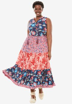 A-line maxi dress,