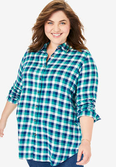 Classic Flannel Shirt, WATERFALL PLAID