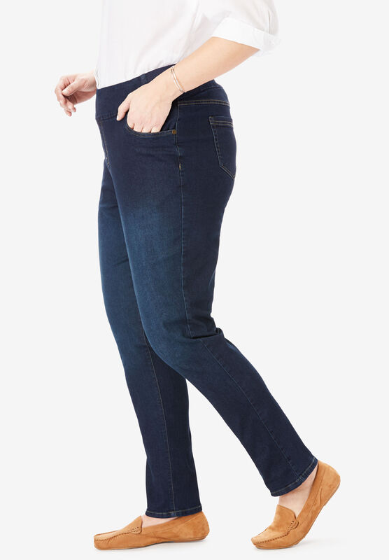 Woman Within Womens Plus Size Smooth Waist Skinny Jean