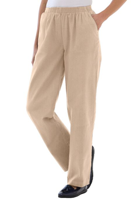 bef87742801f3 Pants in soft twill