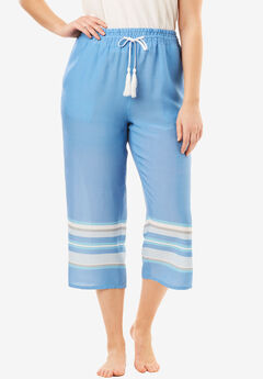The Getaway Capri Pant with Tassel Drawstring,