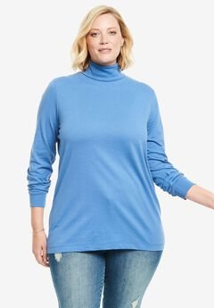 Perfect Cotton Turtleneck, , hi-res