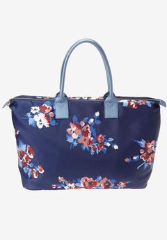 Floral Print Weekender, EVENING BLUE PAINTED FLORAL, hi-res