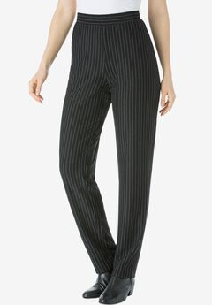Straight Leg Ponte Knit Pant,