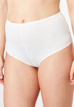 Microfiber Hipster Panty by Comfort Choice®, WHITE