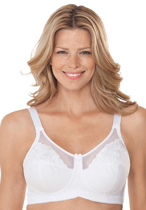ce59cf749d Wireless Full Coverage Embroidered Bra by Elila®