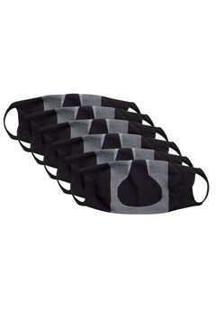 Hanes Signature Stretch-To-Fit Masks 6-Pack, BLACK