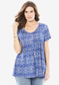 Pintuck Tunic by Chelsea Studio®, ISLAND SPRING, hi-res