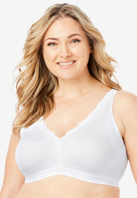 d8205b08d8 Total Comfort Wireless Lace Trim Bra by Comfort Choice®