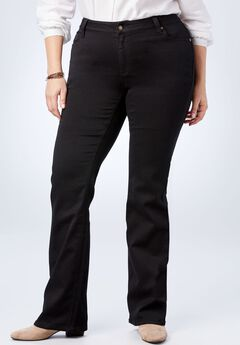 Perfect Bootcut Curvy Jean, BLACK DENIM