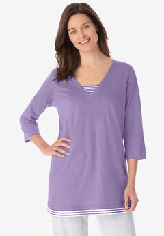 Tunic With Stripe Inset,
