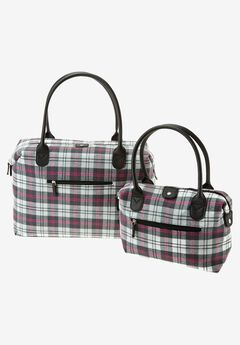2 Piece buffalo plaid set, DARK CHARCOAL PLAID, hi-res