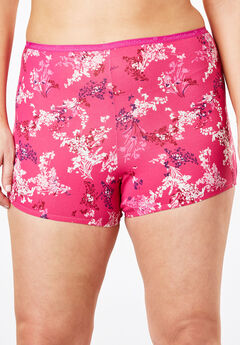 Boyshort By Comfort Choice®, BERRY FLORAL, hi-res