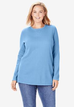 Thermal Sweatshirt, SOFT SKY