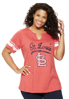 MLB Team Notch-Neck Tee, CARDINALS