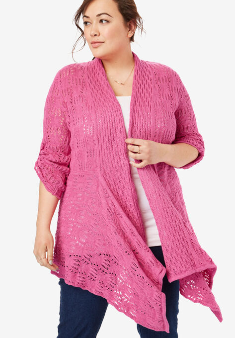 a24363e75 Open Front Pointelle Cardigan