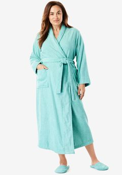 Long Terry Robe with FREE Matching Slippers by Dreams & Co®,