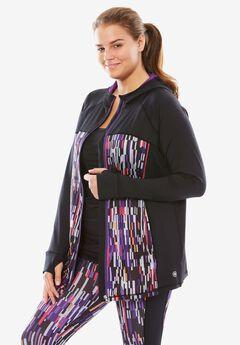 Hooded Zip-Front Jacket,