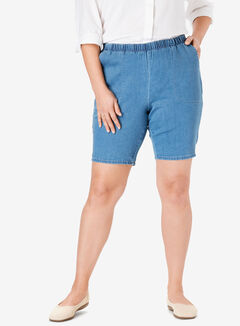 Fineline Denim Short, LIGHT STONEWASH