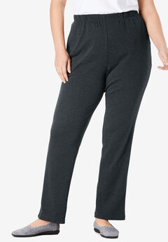 7-Day Knit Straight Leg Pant, HEATHER CHARCOAL, hi-res