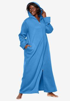 Hooded Fleece Robe by Dreams & Co.®, CORNFLOWER BLUE