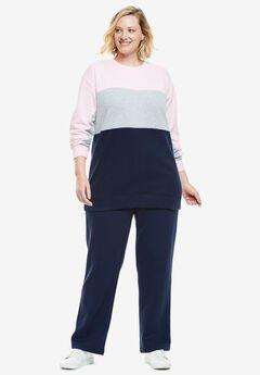 Color Blocked Fleece Sweatshirt,
