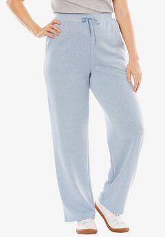Sweat Pants Easy Fleece, HEATHER BLUE CLOUD, hi-res