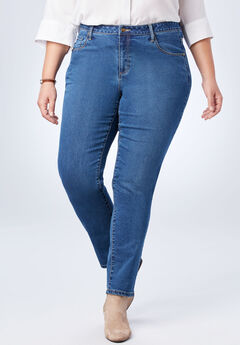 Perfect Straight Leg Jean, STONEWASH