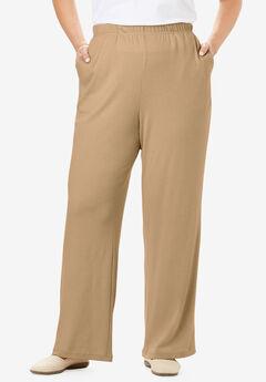 7-Day Knit Wide Leg Pant, DESERT TAN
